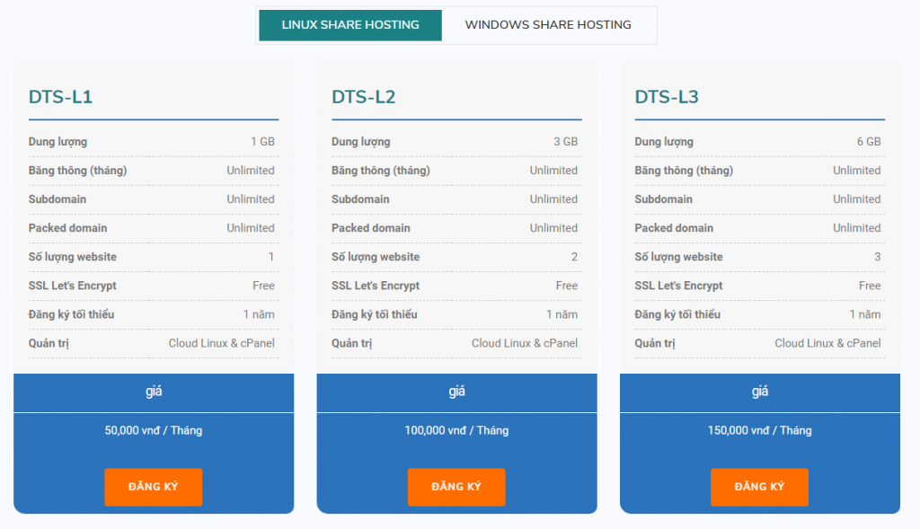 linux share hosting